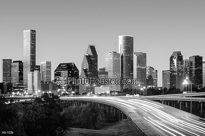Houston Skyline in black & white