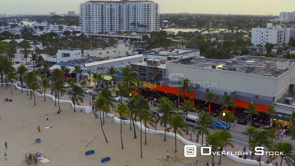 Aerial Video Phase 3 Reopening Fort Lauderdale Beach Florida Usa