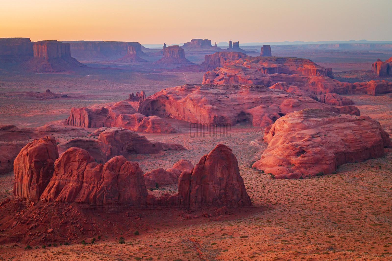 View from Hunt's Mesa Towards Monument Valley