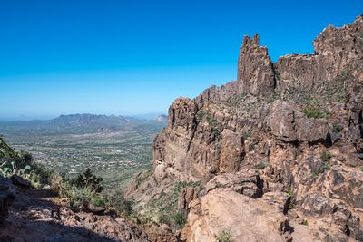 An overlooking view of nature in Apache Junction, Arizona