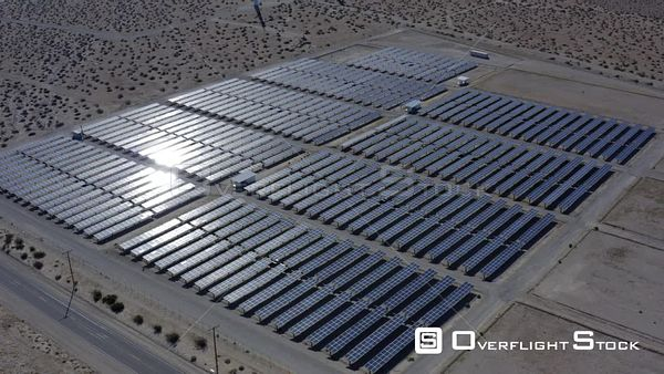 Solar Cells In Palm Springs Desert California Drone Aerial View