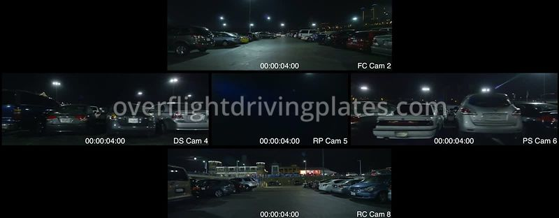 Parking Lot Night  Santa Monica California USA - Driving Plate Preview 2012