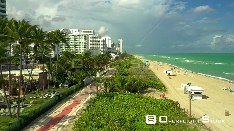 Drone video Atlantic Greenway Miami Beach 4k
