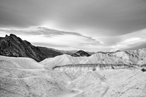 GOLDEN CANYON DEATH VALLEY CALIFORNIA BLACK AND WHITE