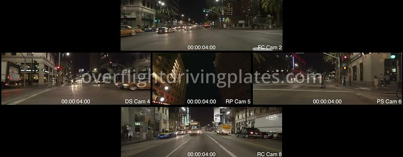 Hollywood Boulevard Night  Los Angeles California USA - Driving Plate Preview 2012