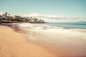 Maui Ulua Beach Wailea Makena Hawaii Retro Photo
