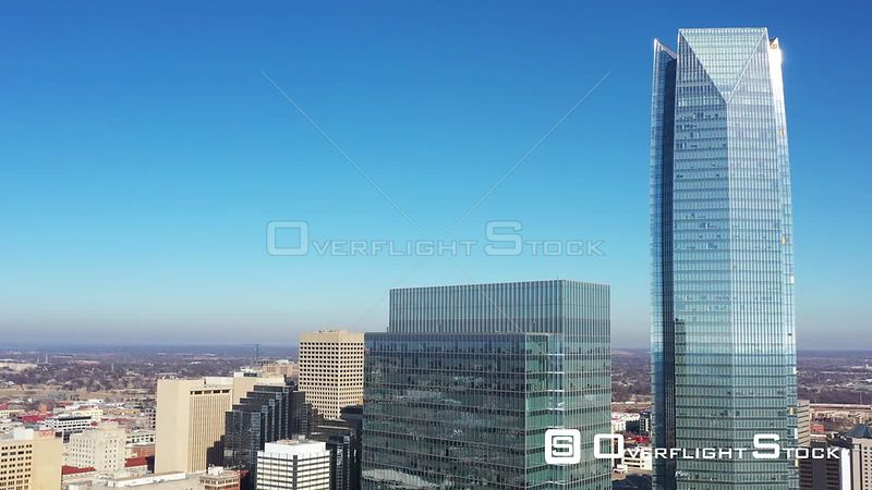 Tall Glass Buildings and Sky, Downtown, Oklahoma City, Oklahoma, USA