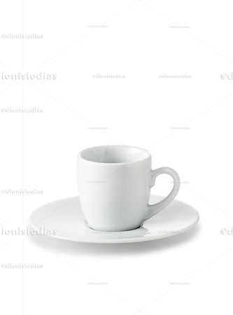 Cup with saucer of insulated dinnerware 02 with path.