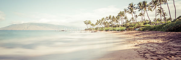 Maui Hawaii Mokapu Beach Wailea Makena Panoramic Photo