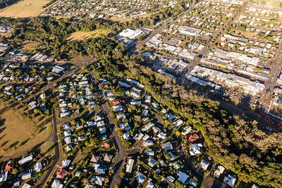 Aerial view of Atherton in Queensland, Australia.