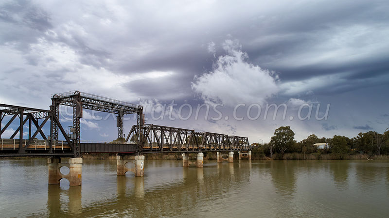 Abbotsford Bridge with passing storm.