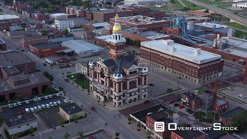 County Courthouse and Downtown, Dubuque, Iowa, USA