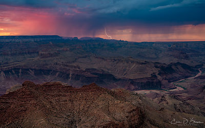 Storms at Sunset at the Grand Canyon