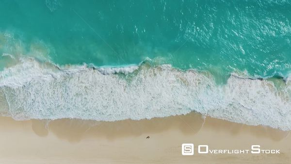 Drone Aerial View Playa Delfines Cancun Mexico