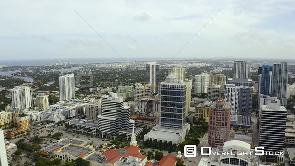 Drone Orbit Around Downtown Fort Lauderdale Fl Usa