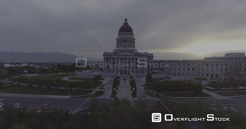 Utah State Capital Building Drone Video USA