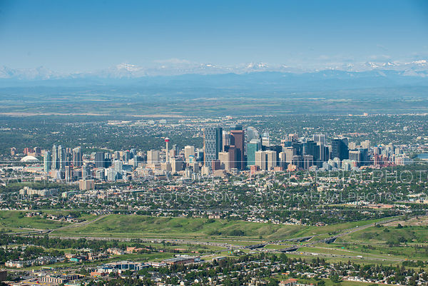 Calgary Skyline with Mountains
