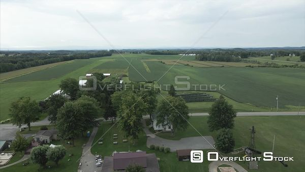 Rural Farming Drone View Macedon Upstate New York