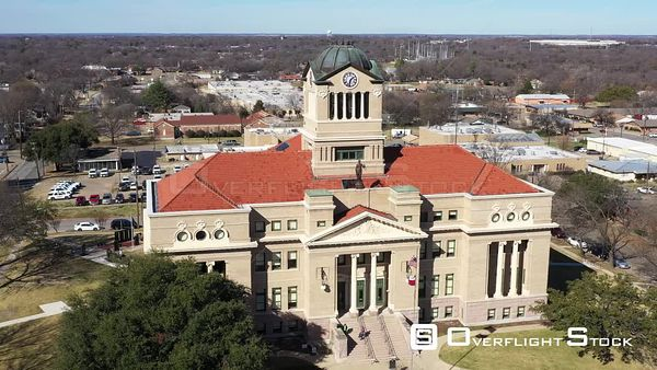 Navarro County Courthouse in a Small Town, Corsicana, Texas, USA