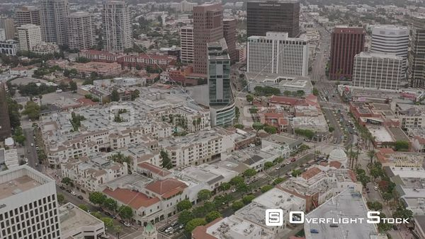 Los Angeles Birdseye fly through of Westwood residential to commercial Wilshire