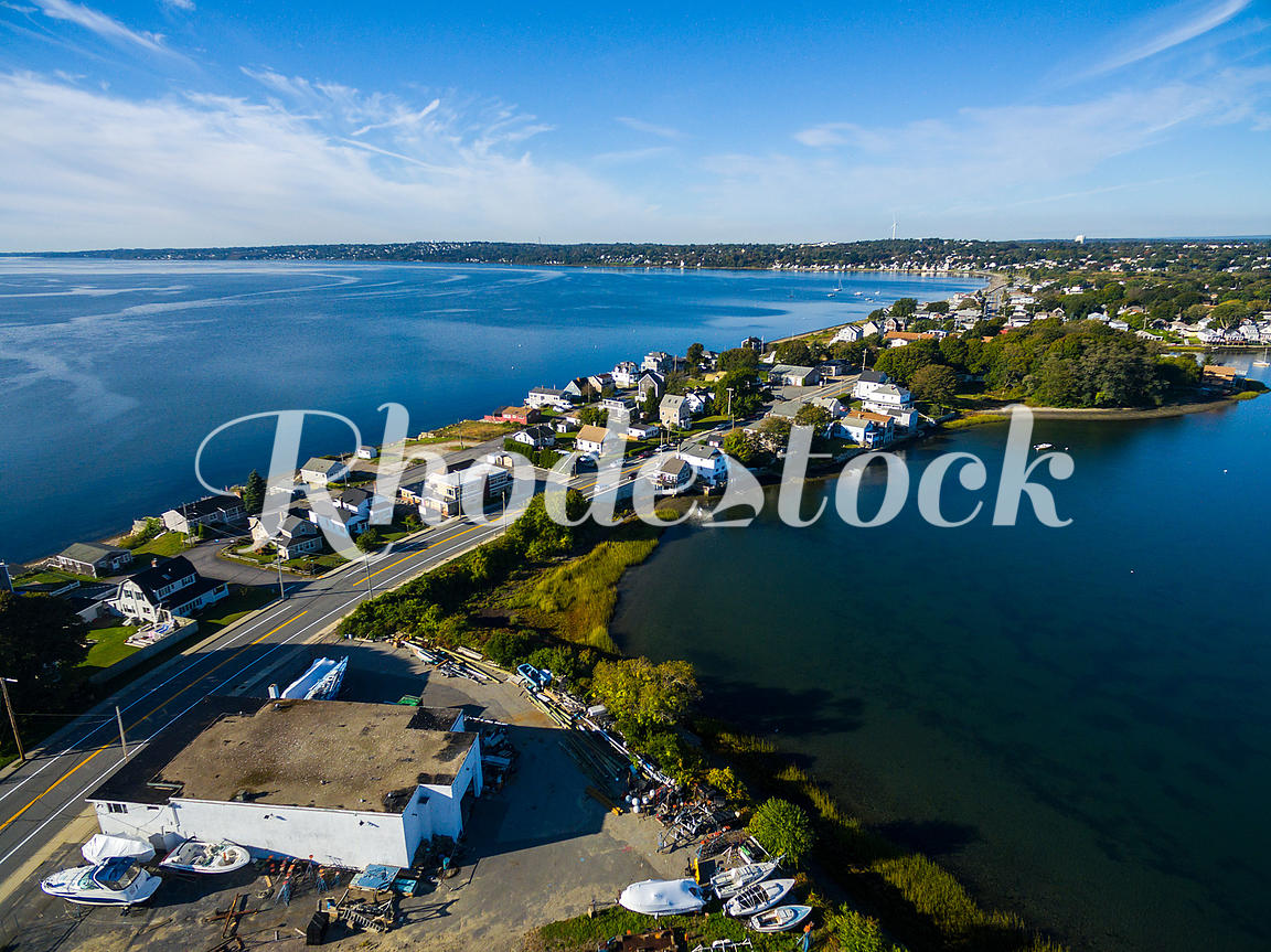 Aerial View of Island Park, Portsmouth, Rhode Island
