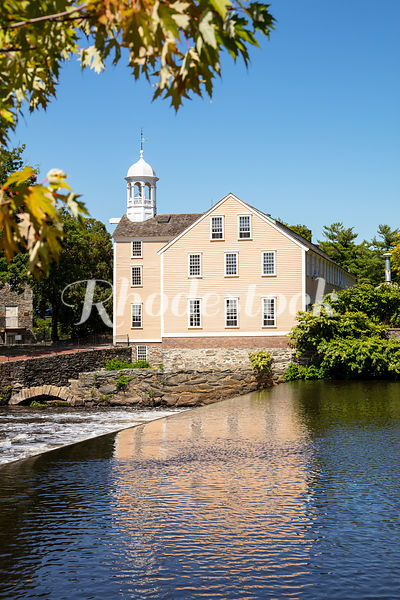 View of Old Slater Mill From Across the Blackstone River