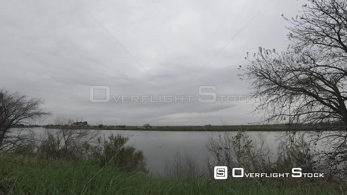 Clouds and River Slough Timelapse Brannan Island State Conxervation Park