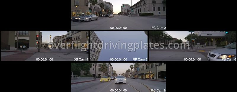 East Colorado Boulevard Dusk  Pasadena California USA - Driving Plate Preview 2012
