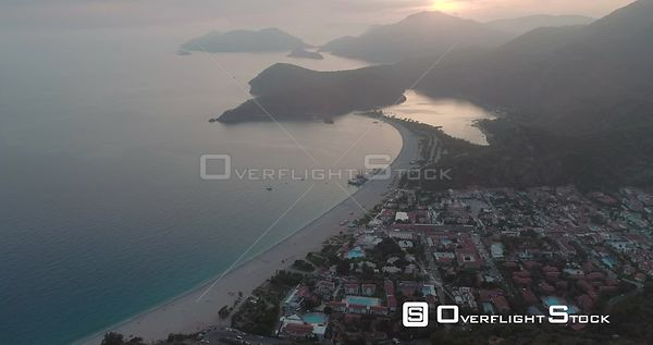 High Aerial View of Oludeniz Beach Turkey