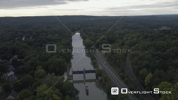 Erie Canal Near Palmyra New York Drone View
