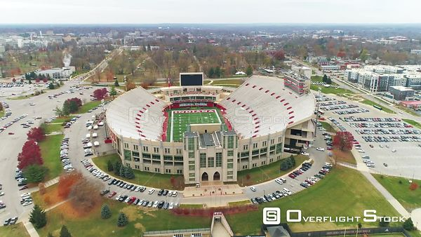 Drone Video Indiana University Memorial Stadium Bloomington