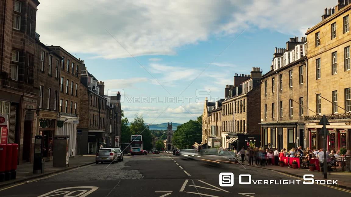 Timelapse View of the North Part of Edinburgh New Town Scotland
