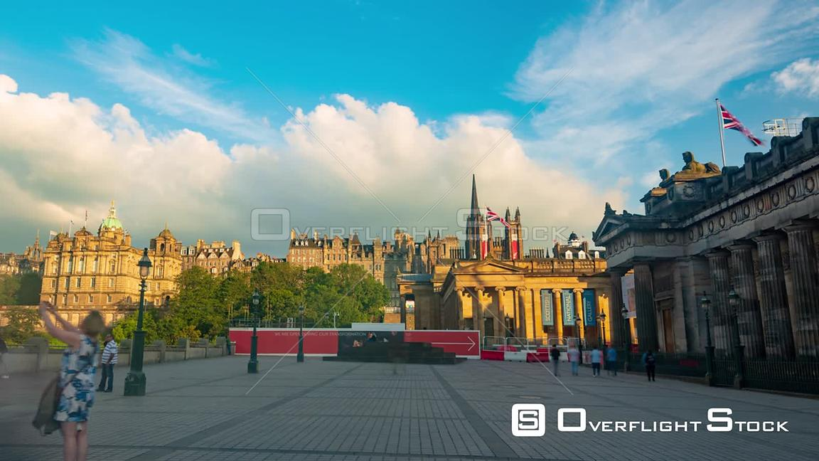 Timelapse View of Edinburgh Old Town Scotland at Sunset