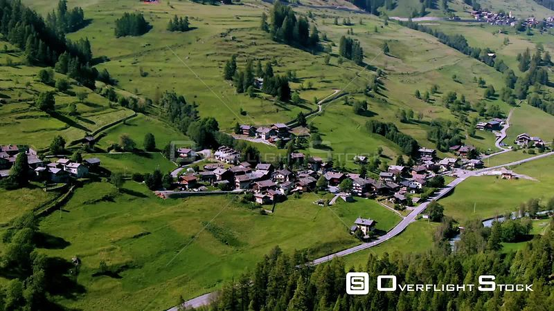 a typical village of the region of Aosta valley in the Italian Alps