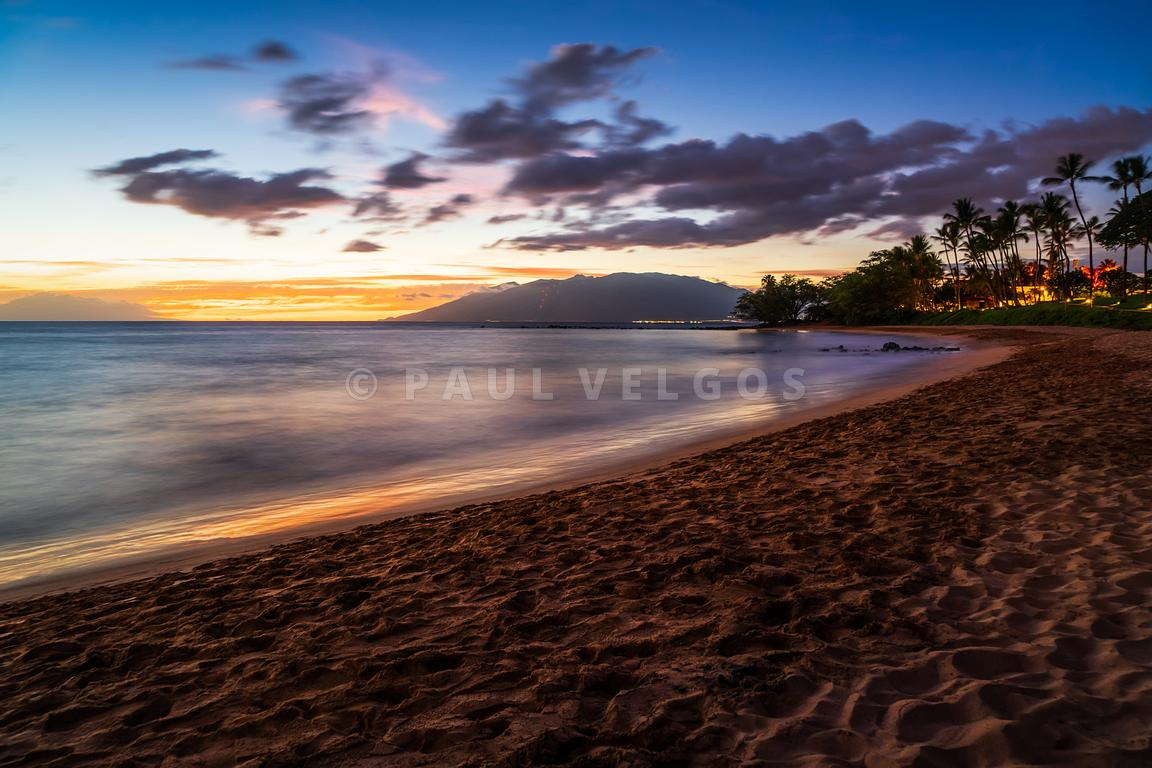 Maui Ulua Beach Wailea Hawaii Sunrise Photo