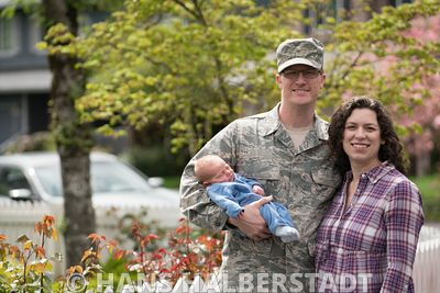Air Force Family with Infant -- all model-released