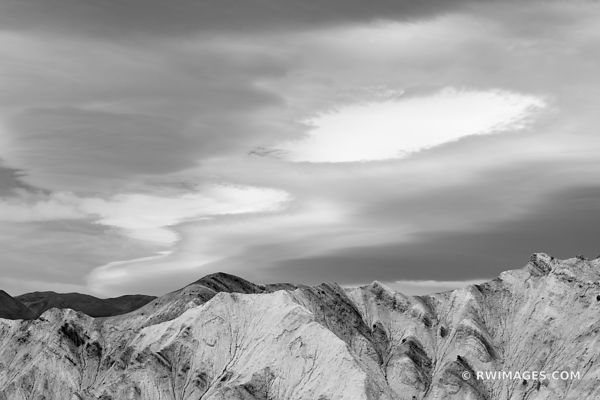 GOLDEN CANYON TRAIL DEATH VALLEY CALIFORNIA BLACK AND WHITE