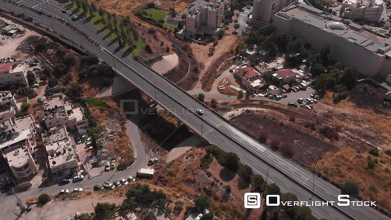 Jerusalem Bridge Traffic in Pisgat Zeev Israel
