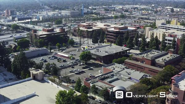 Drone Aerial View Commercial Zone of Burbank California