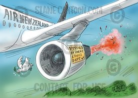 AirNZ Strikes Peace Dove