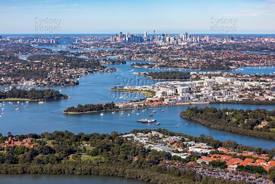 From Concord Hospital, down the Parramatta River to Sydney CBD.