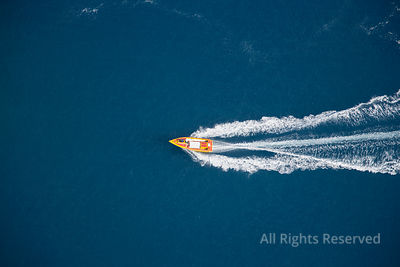 Speed Boat Tropical Islands of French Polynesia. Capital City Papeete on Tahiti