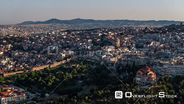 Drone Video of Thessaloniki Greece Cityscape