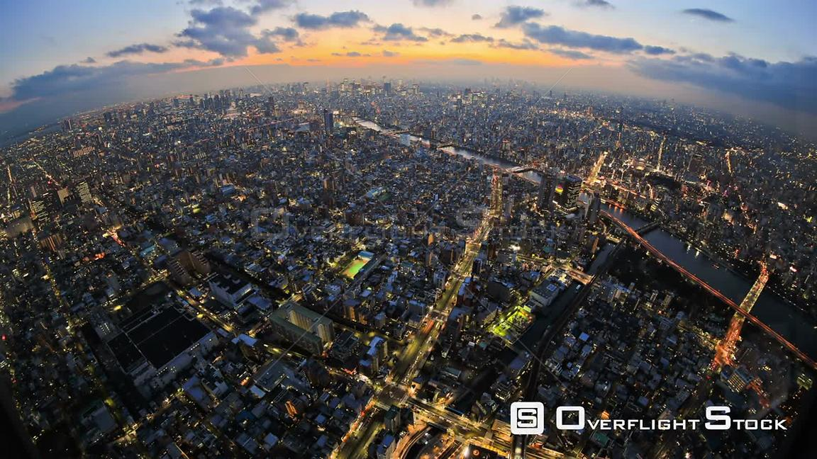 Tokyo  Japan Tokyo cityscape time lapse just after sunset.