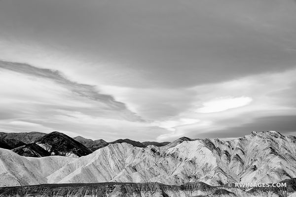 GOLDEN CANYON DEATH VALLEY CALIFORNIA AMERICAN SOUTHWEST DESERT LANDSCAPE BLACK AND WHITE