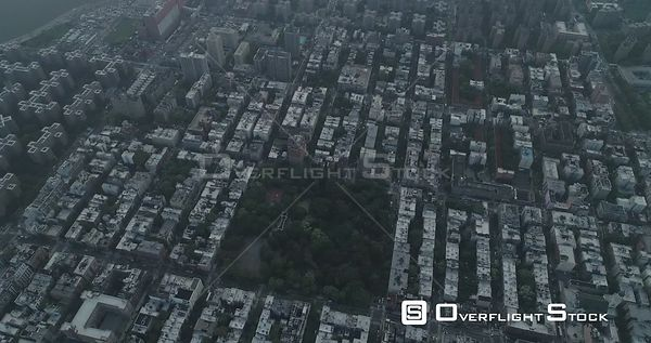 Aerial View of Tompkins Sq Park East Village NYC