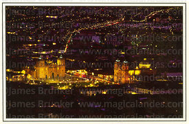 #12 Plaza de Armas at night from above, Cusco