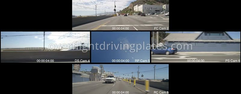 Highway 1 Oceanfront  Santa Monica California USA - Driving Plate Preview 2012