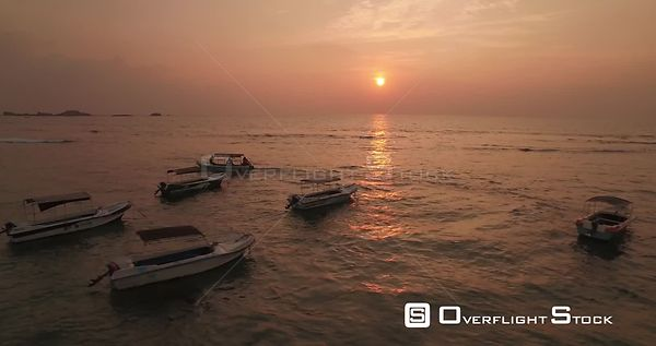 Hikkaduwa Sunset Boats Sri Lanka