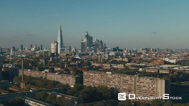 Skyline of the City of London from the South England